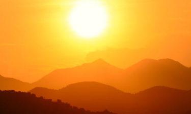 the sun above the appalachian mountains