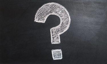 question mark drawn on a blackboard